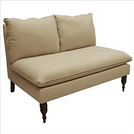 Skyline Furniture Armless Love Seat in Sandstone