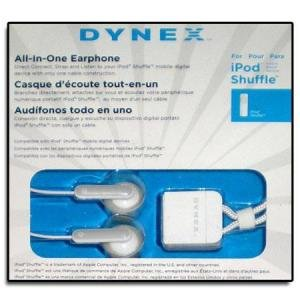 Dynex Ear Bud Headphones For Apple Ipod Shuffle