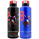 Beverly Hills Polo Club Combo Of 2 Deodorants No 2 & No 8 Men - 175 Ml