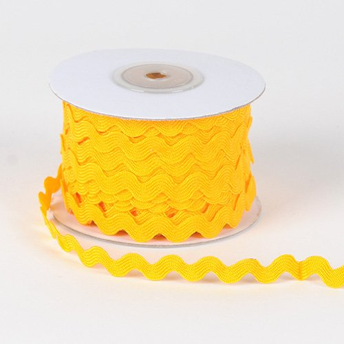 Cheapest Prices! Light Gold Ric Rac Trim 10mm - 25 Yards