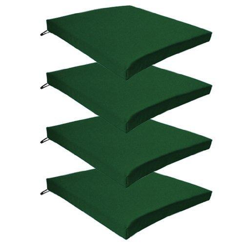 Shopisfy Gartenstuhl Sitzkissen Wasserfest 10 Farben Verschiedene Mengen - Gemischtes Material, Grün