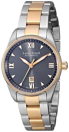 Louis Erard Femme 20100AB23.BMA20 Heritage Automatique Gris Cadran Acier et Rose Or PVD Montre