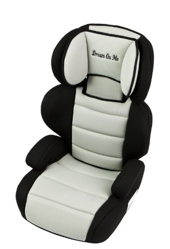 Dream On Me Deluxe Turbo Booster Car Seat, Black and Gray
