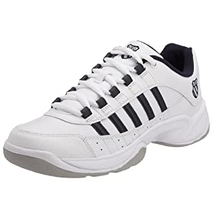 K-Swiss Men's Outshine Carpet Trainer White/Navy/Light Grey 01146-195 9.5 UK
