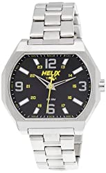 Helix Fusion Analog Black Dial Mens Watch - 01HG05