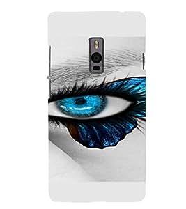 PrintVisa Blue Eyes Design 3D Hard Polycarbonate Designer Back Case Cover for One Plus Two