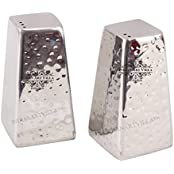 IndianArtVilla Steel Pyramid Design Salt & Pepper Shaker Set|For Tableware Home Hotel Restaurant