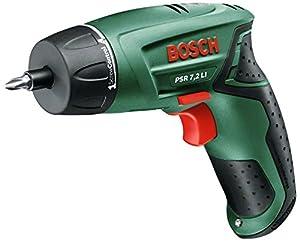 Bosch PSR 7,2 LI HomeSeries Akkuschrauber + 10 StandardSchrauberbits + Ladegerät + Koffer (LithiumIonen Akku, 0,5 kg, 7,2 V)  BaumarktKundenbewertung und Beschreibung