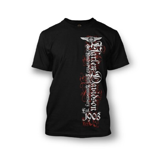 Harley-Davidson® Men's 110th Anniversary Black Letter T-Shirt. Graphics. All Cotton. 302917600