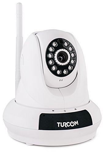 Turcom IP Camera Wifi Wireless Security Camera Network Camera Baby Monitor Nanny Cam HD Night Vision with Two-Way Audio and Full Motion Movement Supports Easy Installation (TS-621) (Webcam Zoom Remote compare prices)