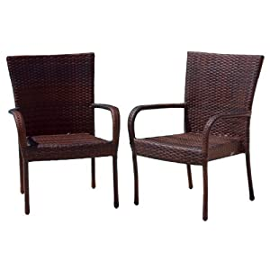 Best Selling Outdoor Wicker Chairs, 2-Pack from Heavy Metal Inc.--DROPSHIP