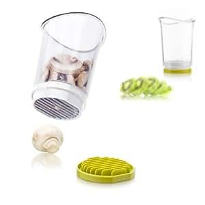 """Vacu vin 4651660 Schnitt- und Auffangbehälter """"Slice & Catch"""" weiß / grün"""