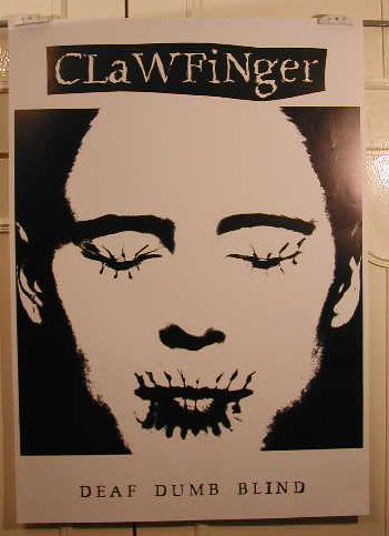 Clawfinger, 60 x 84 cm/Poster mostra