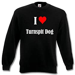 """Children Sweater """"I Love Turnspit Dog"""" different Colors 104 - 116 - 128 - 140 - 152 - 164"""