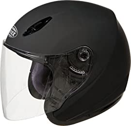 GMAX GM17 SPC Open Face Motorcycle/Scooter Helmet Flat Black XL - 317077
