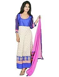 Tehzeeb Women's Faux Georgette Anarkali Salwar Suit - B016BJJN60