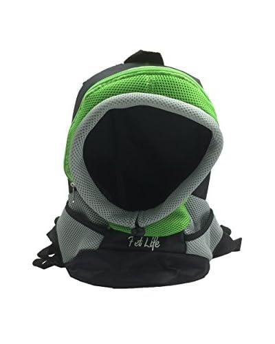 Pet Life Bark-Pack On-The-Go Supreme Travel Backpack Pet Carrier, Green, Medium
