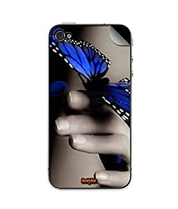 indiaspride SKIN STICKER FOR APPLE I PHONE 4s