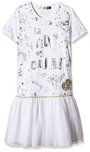 Desigual VEST_ROUGE-Vestito  Bambina, Bianco (Algodón 1015), 8 anni