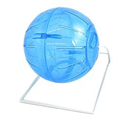 Mice Mouse Fitness Exercise Fun Toy Ball Wheel Cage Clear Blue
