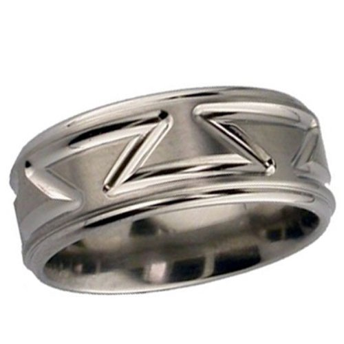 Titanium Wedding Ring - Patterned