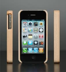 Hacoa アイフォンケース Wooden Case for iPhone4-M メープル H940-M