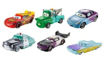 Disney cars set of 6 2015 Color Changers: SALLY, McQueen, Boost, Blue Mater, Ramone, Sheriff!! (Color Shifters Disney Cars compare prices)