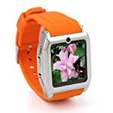 NEW! Smart Watch Mobile Ultra-thin Java Sliding Menu TW530 Cell Phone Orange