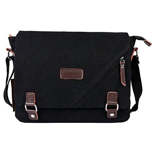 ibagbar-canvas-large-messenger-shoulder-laptop-bag-black