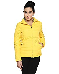 Campus Sutra Cotton Women's Bomber Jackets (AW15_JK_W_P3_YE_M_Yellow_Medium)