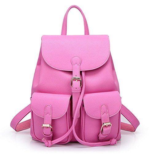 Check Out This Thinksky Women's Faux Leather Backpack Casual Shoulder Bag Schoolbag with Strings
