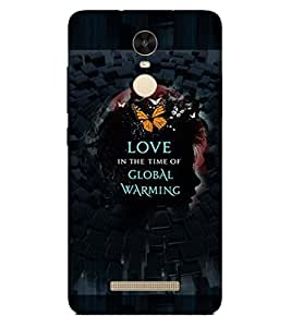 PRINTSWAG LOVE SLOGAN Designer Back Cover Case for Xiaomi Redmi Note 3