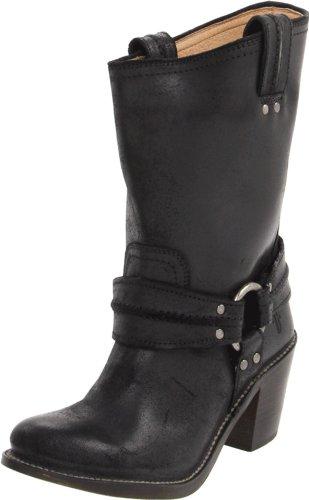 Frye Carmen Harness Short Boots Womens Black Schwarz (Noir (Blk)) Size: 6 (39 EU)