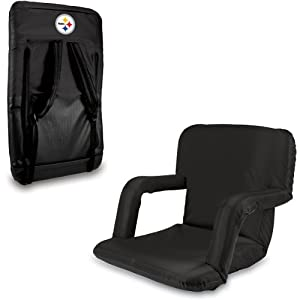 Nfl Pittsburgh Steelers Portable Ventura Reclining Seat from Picnic Time