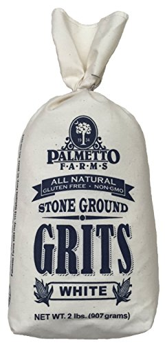 Palmetto Farms White Stone Ground Grits 2 LB - Non-GMO - Just All Natural Corn, No Additives - Naturally Gluten Free, Produced in a Wheat Free Facility - Grinding Grits Since 1934 (Corn Grits compare prices)