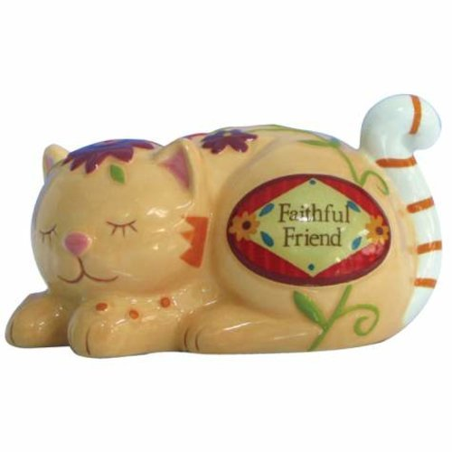 WL SS-WL-15941 Faithful Friend Decorated Cat Collectible Figurine, 1.75
