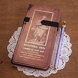 ヨーロピアン風 美しい 洋書のような 革バンド付き 硬表紙 手帳 (Bタイプ)