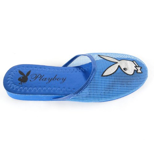 Cheap Women's Playboy Bunny Mesh Slipper Sandals Blue , 5-10 (B007O45ODS)