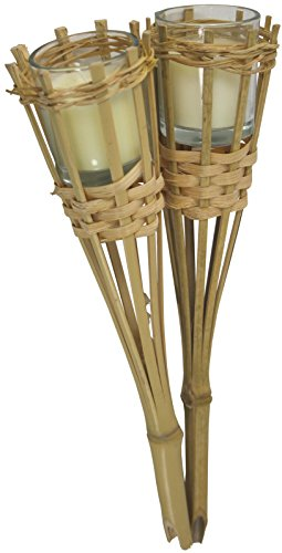 Pair Of Bamboo Candle Holders