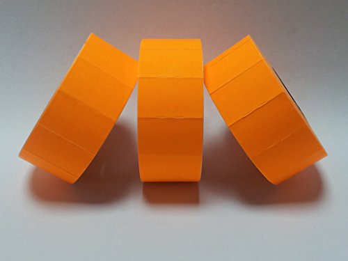 CT7 26 mm x 16 mm Prix Gun Labels - Étiquettes - étiquettes Orange fluo pelables - Lot de 10 000/10 000