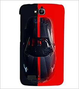 PrintDhaba Car D-4066 Back Case Cover for HUAWEI HONOR HOLLY (Multi-Coloured)