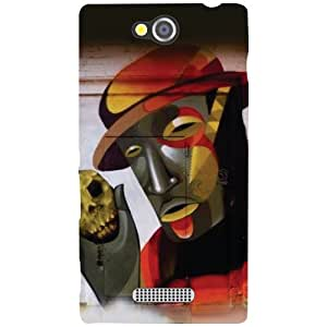 Sony Xperia C - Hatted Man Matte Finish Phone Cover