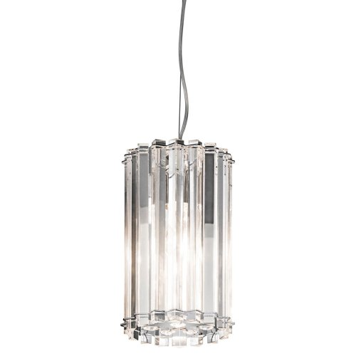 B006QEKA86 Kichler Lighting 42174CH Crystal Skye 1-Light Mini Pendant, Chrome Finish with Crystal Prisms