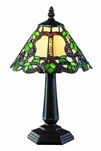 Lite Z8-37MTL Vidonia One Light Mini Lamp, Metal Frame, Chestnut