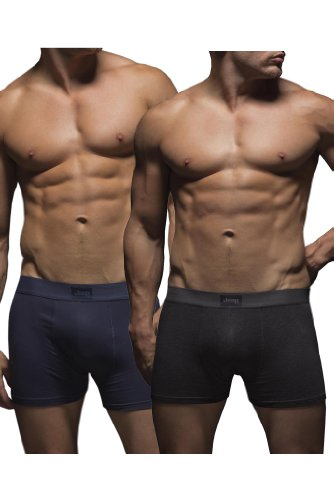 mens-2-pack-jeep-cotton-plain-fitted-hipster-trunk-boxer-shorts-navy-charcoal-s