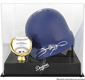 Mounted Memories Los Angeles Dodgers Batting Helmet and Ball Logo Case by Mounted Memories