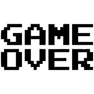 Amazon.com - Pixelated Game Over Decal Sticker (black, 22 inch) - Wall