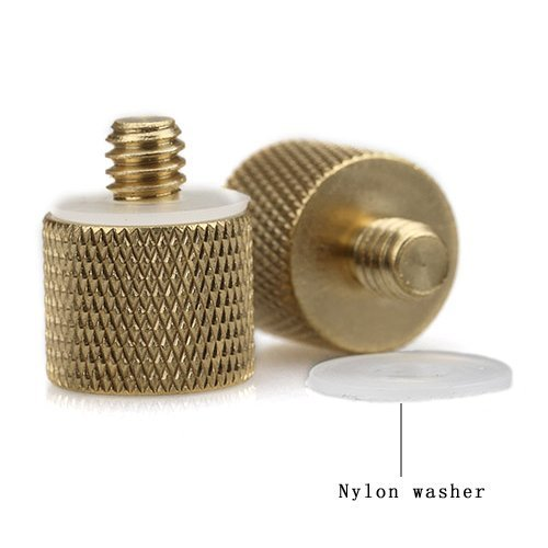 smallrig-3-8-16-female-to-1-4-20-male-tripod-thread-reducer-adapter-brass-new-2-pack