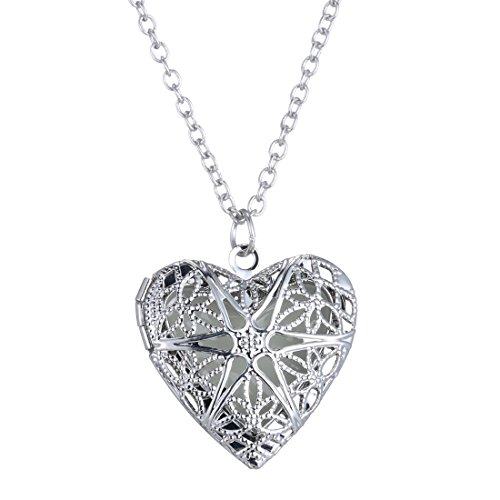FM42-Silver-tone-Glow-in-the-Dark-Openwork-Heart-Locket-Pendant-Charm-Necklace-GN1003