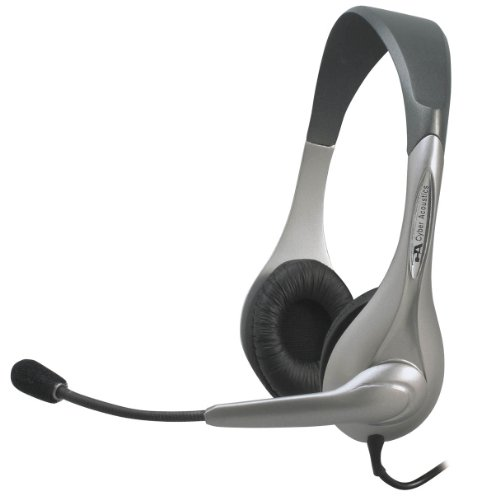 Cyber AcousticsStereo Headset/Microphone, Ambidextrous design AC-201